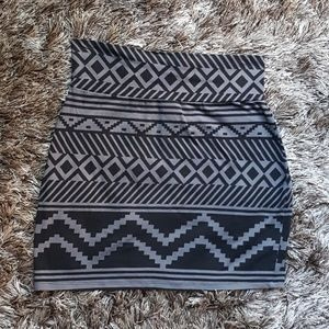 PINK Victoria's Secret Skirts - Black and grey tribal mini skirt
